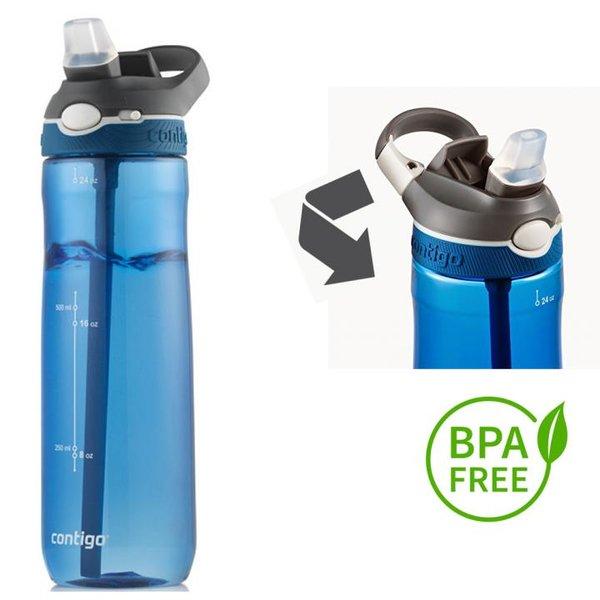 Contigo Trinkflasche Ashland Sport Fitness Flasche - 720ml - blau