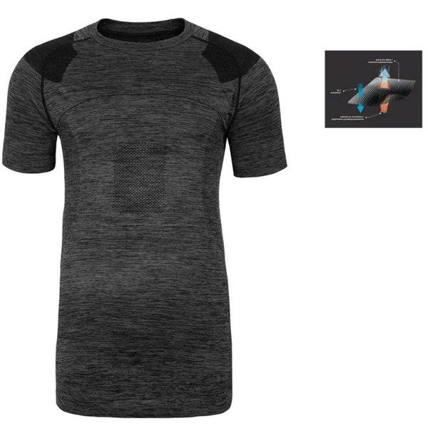 Everhill - Herren Trainingsshirt - Sport T-Shirt - schwarz grau
