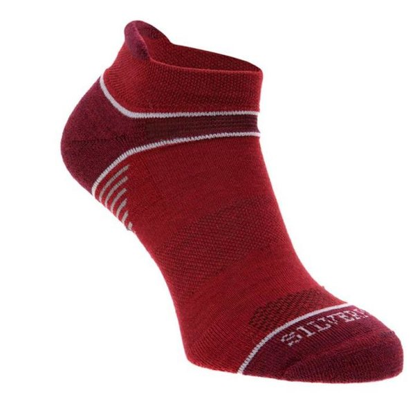 Silverpoint - On The Move no show - Merino Socken - rot