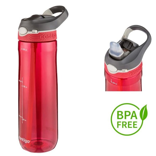 Contigo Trinkflasche Ashland Sport Fitness Flasche - 750ml - rot