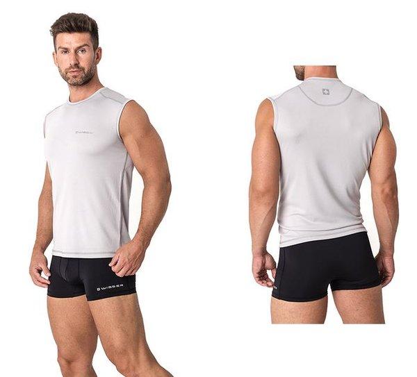 WISSER SWISS - Herren Sport Unterhemd - Sport Funktionsunterwäsche - grau