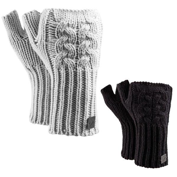 Outhorn - fingerlose Strickhandschuhe Woll Handschuhe - schwarz oder grau