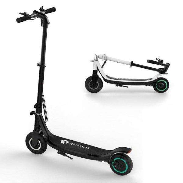 Minimula Eco Elektroroller Erwachsene, elektrischer Marken 350W, schwarz