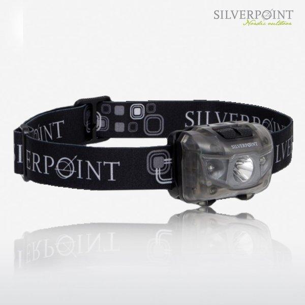SILVERPOINT - Stirnlampe HUNTER XL120RL - Head Torch 120Lumen - rot und weißes Licht (Testpreis!) - grauer Body