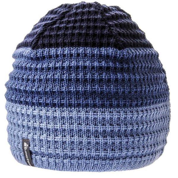 KEMET - Strickmütze Wintermütze mit Fleecestirnband - blau