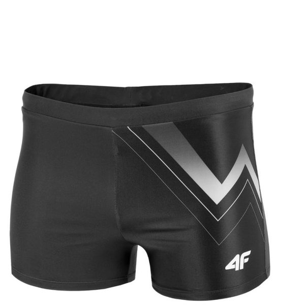 4F - Badehose Shorts - Herren Badeshorts Schwimmhose 2019 - schwarz