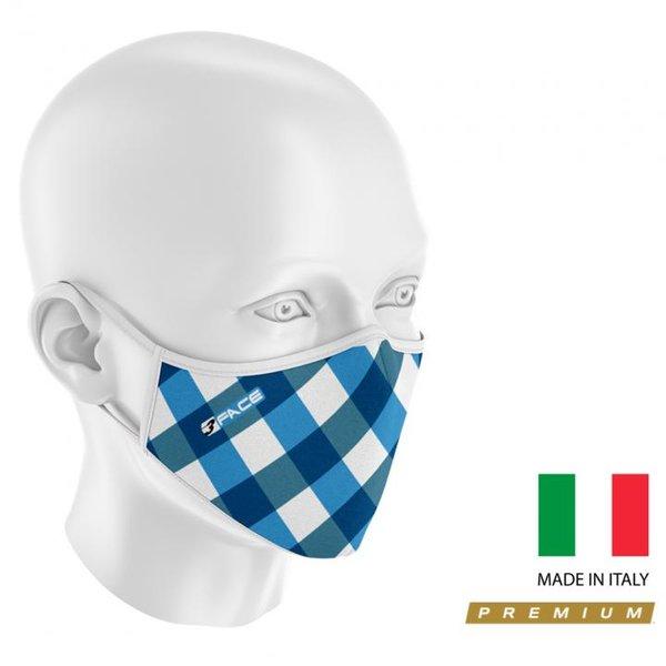 3Face - hochwertiger Mund - Nasenschutz - waschbar - wiederverwendbar - mit Membrane - Made in Italy