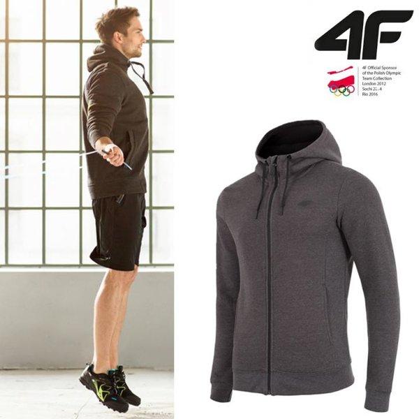 4F - Sweat-Fleece-Jacke - Herren Sportjacke