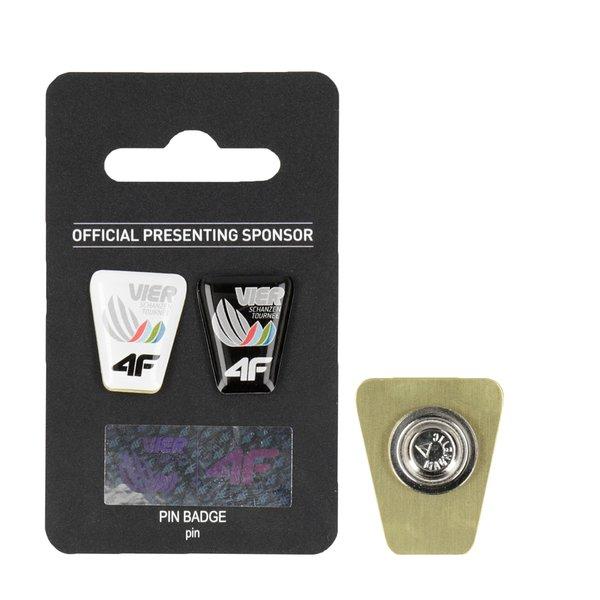 4F - Vierschanzentournee Kollektion 2018-19 - PIN BADGE - Metall Clips - schwarz und weiß