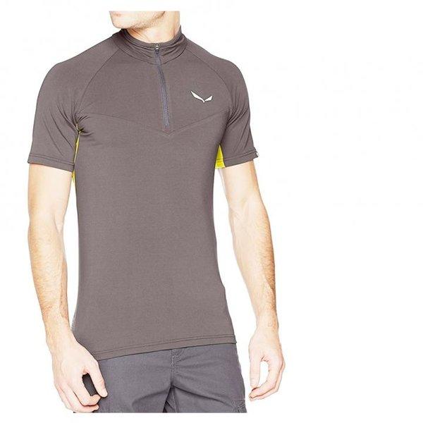 Salewa Herren Sport Shirt AGNER Climb 2 Dry M S/S HZ T-Shirt grau, 46/S