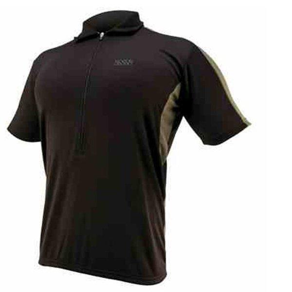 IXS Herren Bike- Sport Polo-Shirt Radtrikot - schwarz - S