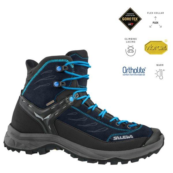 Salewa - Vibram Damen Hike Trainer Mid GORE-TEX® Wanderschuhe, navy