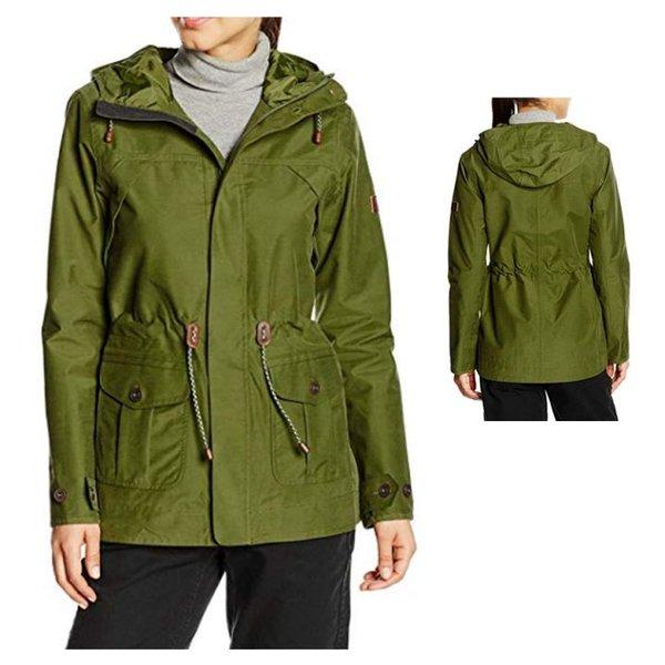 Berghaus wasserdichte Damen Jacke Regenmantel Outdoorjacke - grün khaki S 36