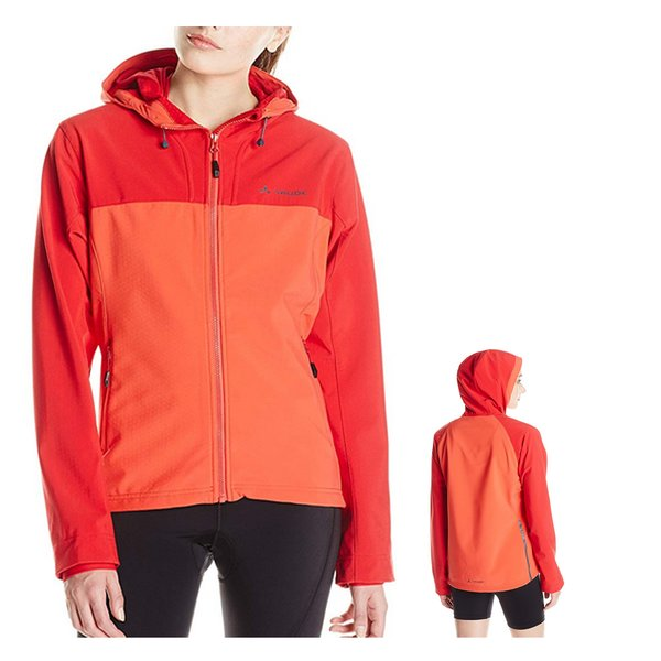 Vaude Damen Softshelljacke Radjacke rot orange - 38 M