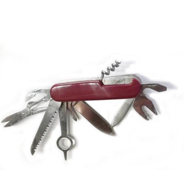 Großes Taschenmesser - 12 Funktionen Outdoor Multi Messer - rot