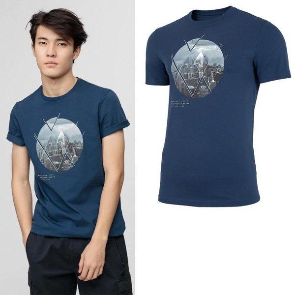 4F - Herren T-Shirt Baumwolle - navy