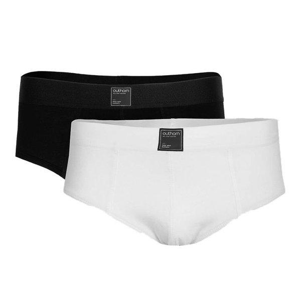Outhorn - Herren 2er Set Slip - BIO-Baumwolle - weiß/schwarz