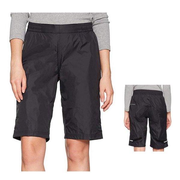 Vaude Damen Women's Drop Shorts Hose - 2,5 Lagen Regenhose - schwarz