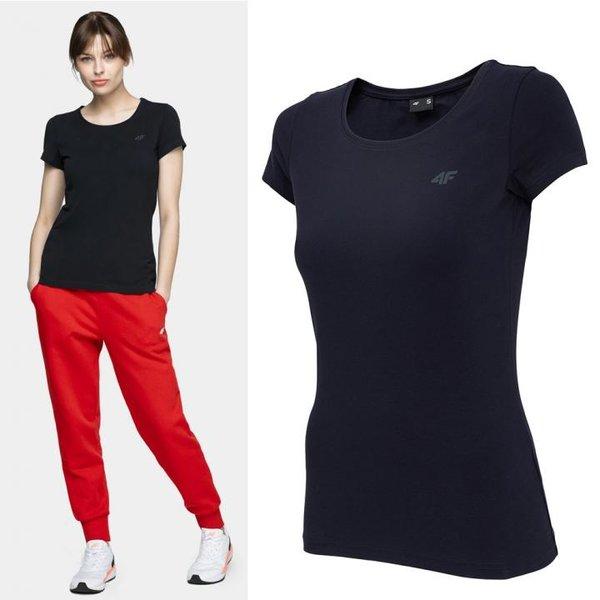4F- Damen Basic T-Shirt - navy
