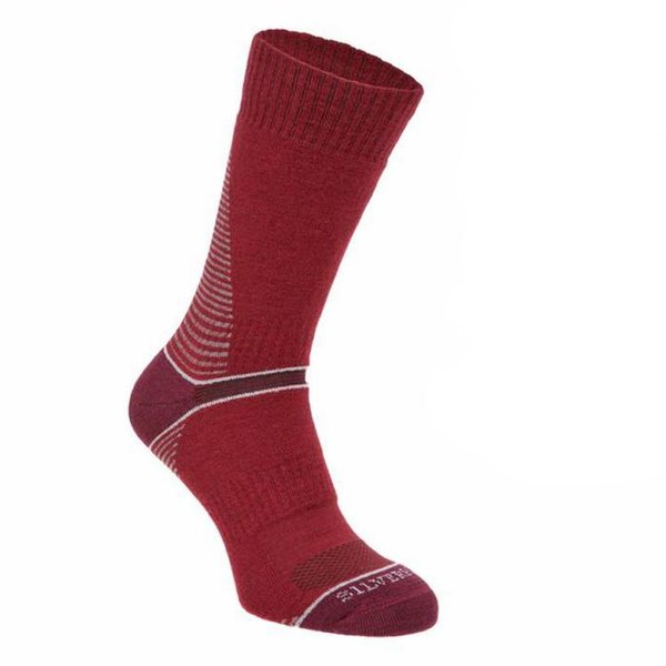 Silverpoint - On The Move Boot Sock - Merino Socken - rot
