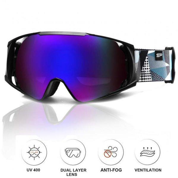 SPOKEY - DENNY Skibrille Snowboard Brille UV-Schutz Schneebrille - Anti-Fog - schwarz blau