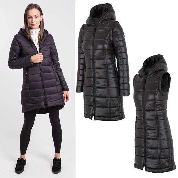 4F - Wintermantel synthetische Daune - Damen Wintermantel   Outdoor ... 8d13430a7c