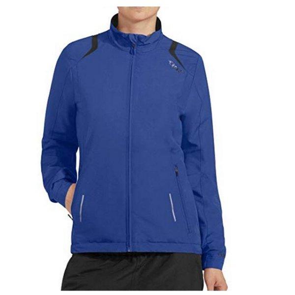 RONO - Damen gefütterte Sportjacke Trainingsjacke - blau - M 38