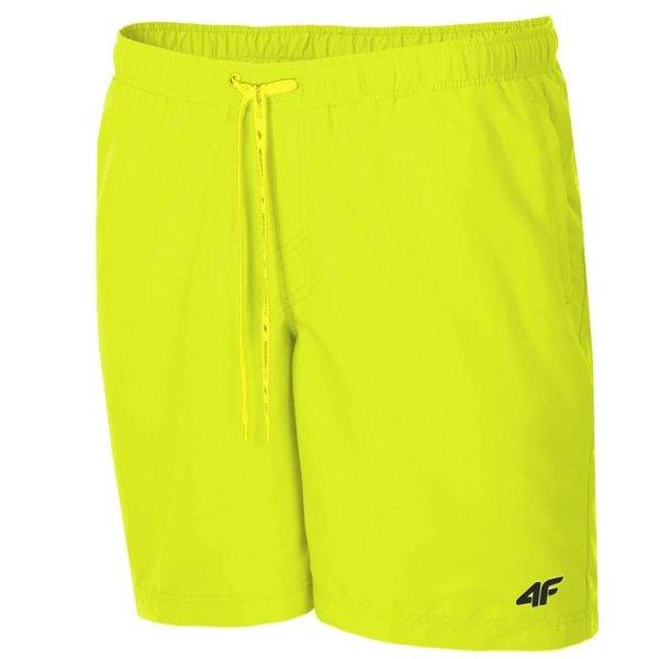 4F - Badehose Herren Badeshorts 2019 - neon gelb