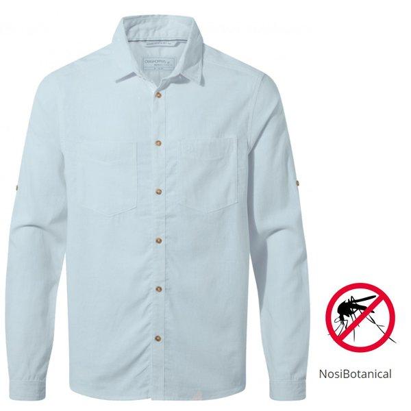 Craghoppers - NB Villar LS langarm Hemd Herren Nosibotanical, blau