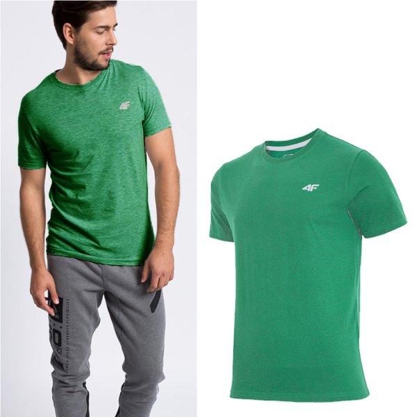 4F - Baumwollshirt - Herren T-Shirt - grün