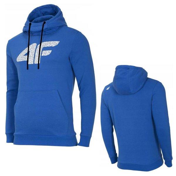 4F - Herren Logo Sweatpullover - Sportpullover - Blau