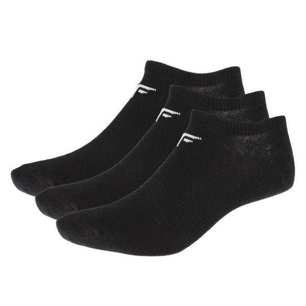 4F - 3er Pack Damen Sneakersocken - Freizeitsocken schwarz