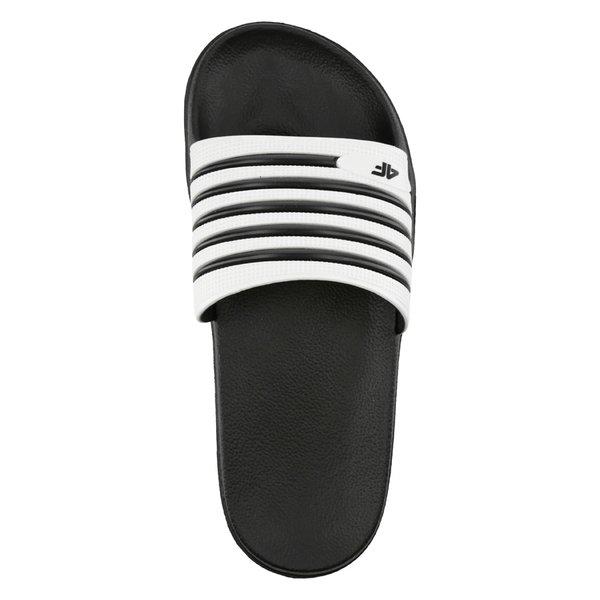4F Pool Slippers Badeschuhe schwarz weiß