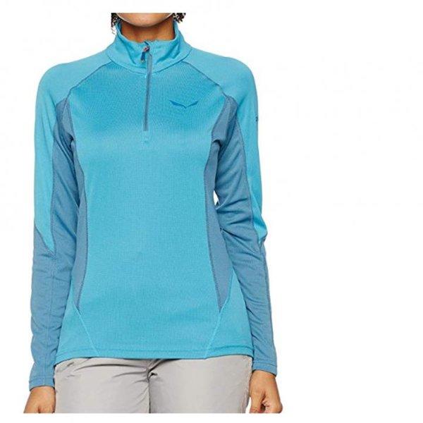 Salewa Sennes Pl Long Sleeve Shirt Damen Funktionsoberteil, blau, 42 XL