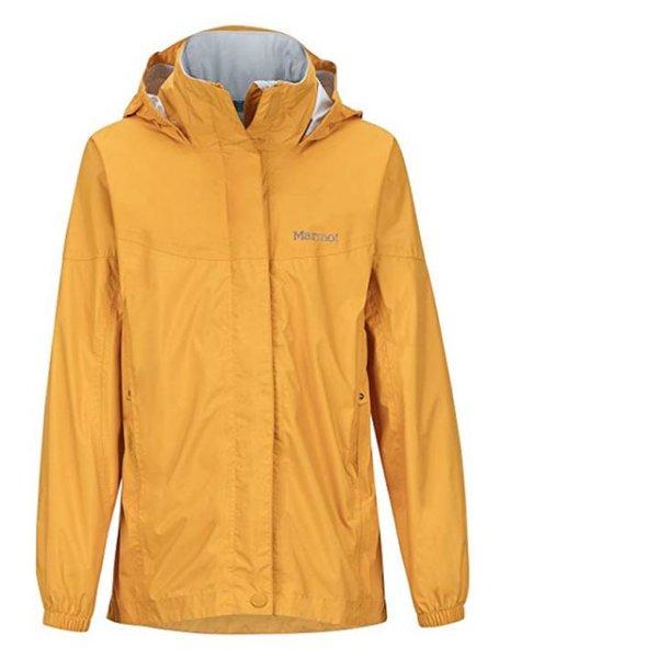 Marmot PreCip Regenjacke für Mädchen, wasserdicht, winddicht & atmungsaktiv - gelb - M