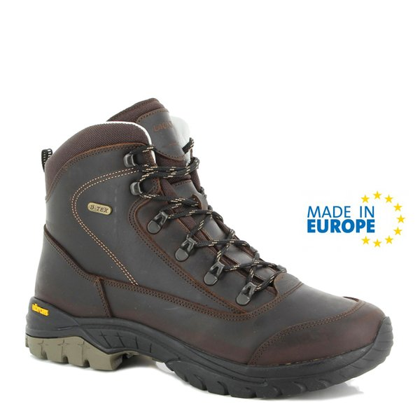 Vibram - Leder Outdoorschuhe Lackner Elbrus - Made in EU - braun
