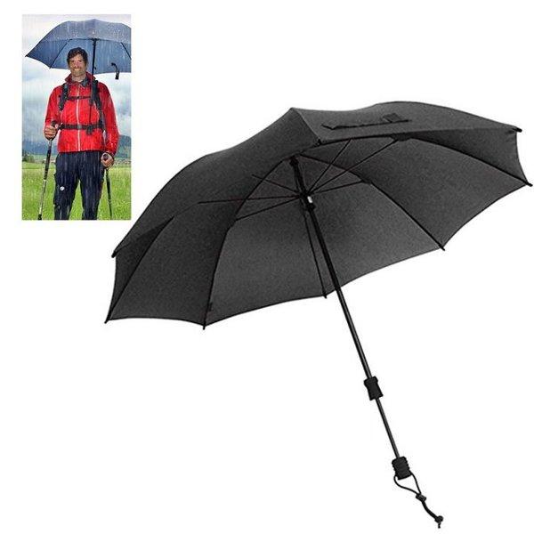 EuroSCHIRM - Göbel - Regenschirm Trekkingschirm - Swing handsfree, schwarz