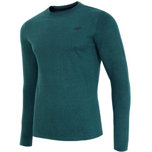 4F - Langarmshirt - Herren Sportshirt - dunkelgrün