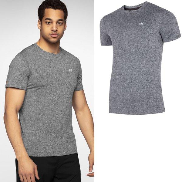 4f Herren Sport T Shirt Grau Melange Outdoor Online Shop Der