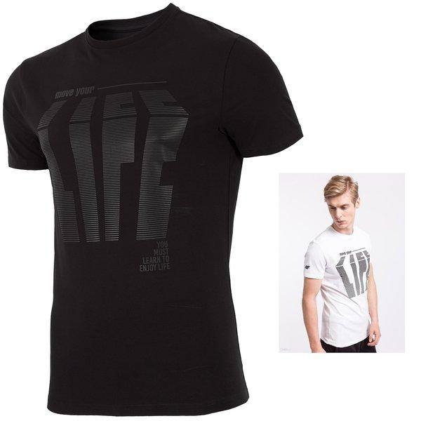4F- ENJOY LIFE - Herren T-Shirt - schwarz