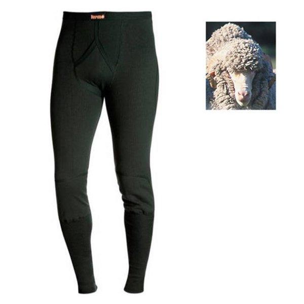 TERMO - Wool HEAVY - dicke Herren Merino Hose Unterhose, schwarz