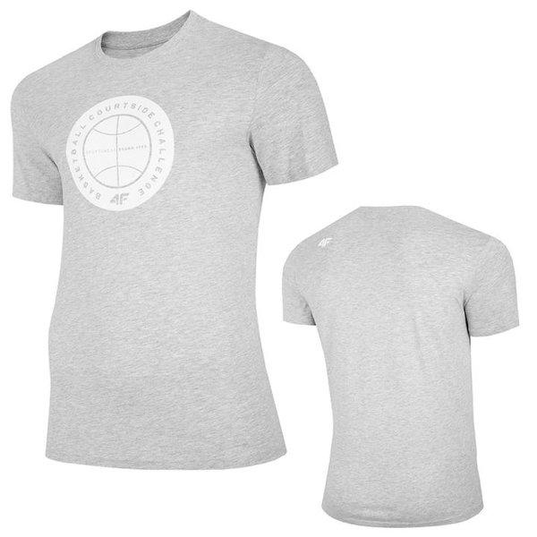 4F - Basketball - Herren T-Shirt Baumwolle - grau