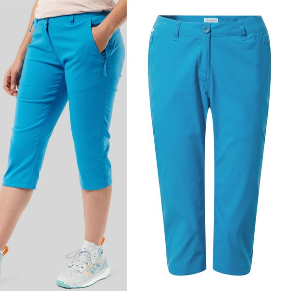 Craghoppers - Kiwi Pro Crop - Damen Caprihose - blau