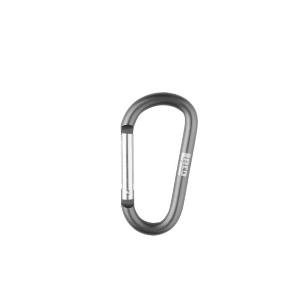 LACD - Zubehörkarabiner aus Aluminium - Schnappverschluss - 4,0 cm, grau