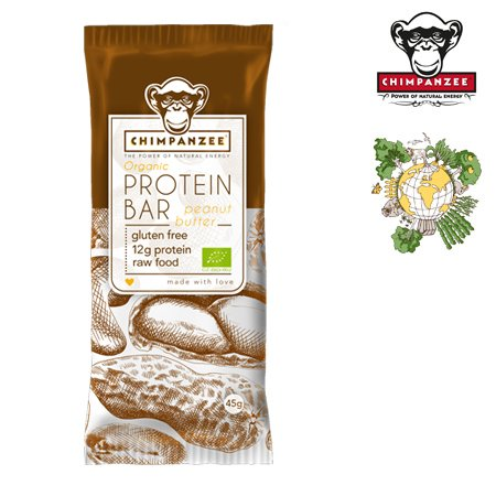 CHIMPANZEE - Protein Bar (45gr.) - Riegel - Erdnussbutter