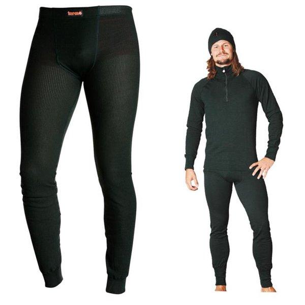 TERMO - Original Medium - warme Funktionsunterhose lange Hose - schnelltrocknend, schwarz