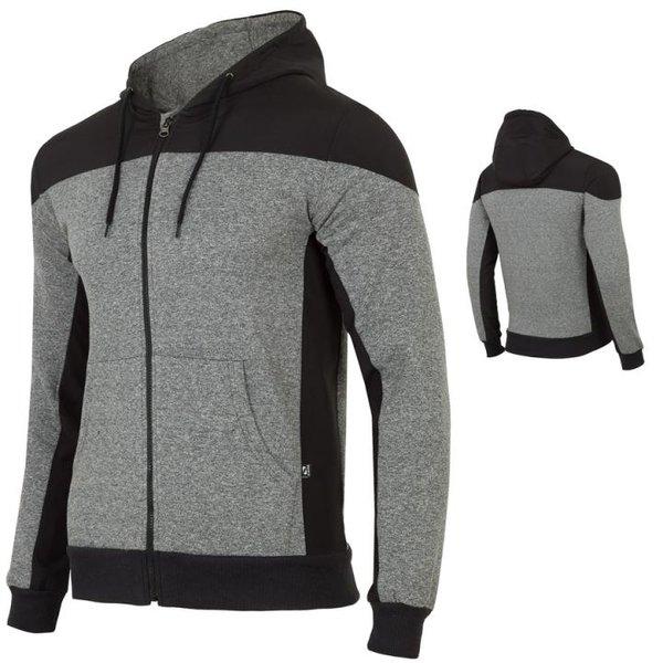 Everhill - Herren Sport Hoodie Kapuzenpullover Sportpulli - schwarz grau