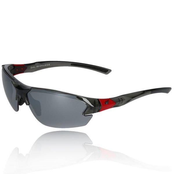 4F - Sportbrille Sonnenbrille Bike Brille - polarisierende REVO Gläser UV 400 - S2 grau