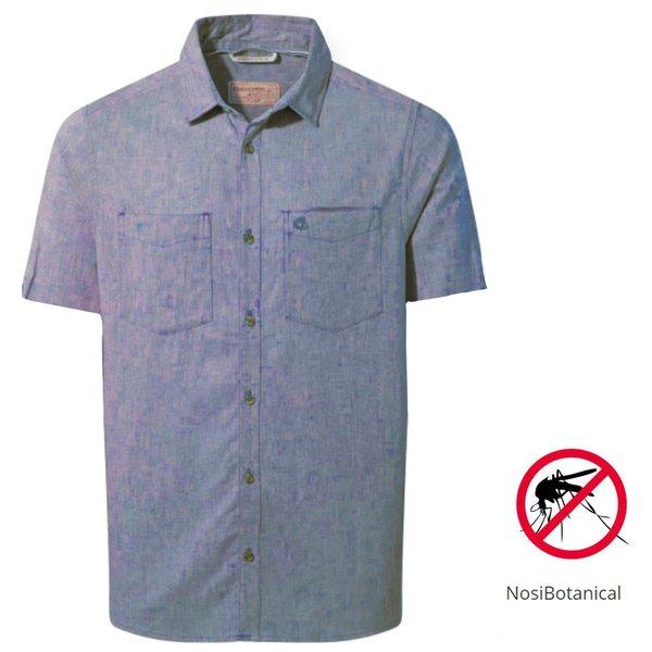 Craghoppers - NB Villar SS Shirt Herren Nosibotanical Hemd, navy