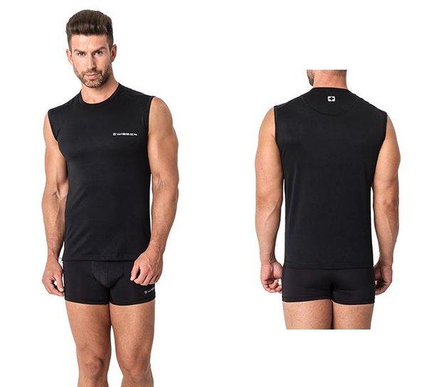 WISSER SWISS - Herren Sport Unterhemd - Sport Funktionsunterwäsche - schwarz